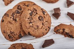 печенья 3 шоколада стоковое фото rf
