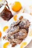 Печенья шоколада имбиря с гайками Стоковые Фотографии RF