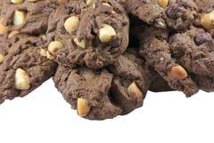 Печенья шоколада макадамии Стоковые Фотографии RF