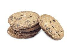 печенья шоколада обломока предпосылки белые Стоковые Фотографии RF