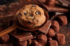 печенья шоколада обломока свежие Стоковое Изображение