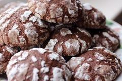 печенья шоколада домодельные Стоковые Изображения