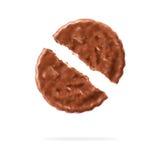 Печенья шоколада против белой предпосылки Стоковые Фотографии RF