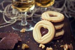 Печенья шоколада сердца Стоковая Фотография RF