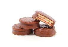 Печенья шоколада с укусом Стоковые Изображения