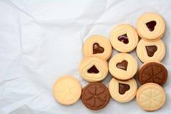 Печенья шоколада формы сердца Стоковые Фотографии RF