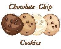 печенья 3 шоколада Стоковое Изображение