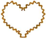 Печенья шутихи в форме зигзага в контуре изолированных сердец Стоковое Изображение RF