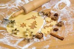 Печенья для рождества Стоковые Фотографии RF