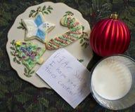 печенья claus доят santa Стоковые Фото