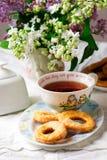 печенья cream прокишут Год сбора винограда стиля Стоковое Изображение RF