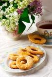 печенья cream прокишут Год сбора винограда стиля Стоковая Фотография