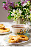 печенья cream прокишут Год сбора винограда стиля Стоковые Изображения