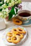 печенья cream прокишут Год сбора винограда стиля Стоковое Фото