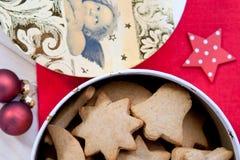 Печенья Gingerbread в коробке Стоковые Изображения