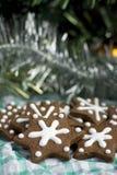 Печенья gingerbread рождества в форме звезды Стоковое фото RF