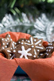 Печенья gingerbread рождества в форме звезды Стоковые Фото