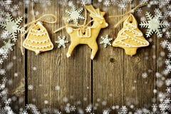 Печенья gingerbread рождества домодельные иллюстрация штока