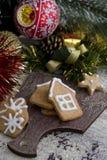 Печенья gingerbread рождества Стоковая Фотография RF