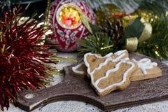 Печенья gingerbread рождества Стоковые Фотографии RF