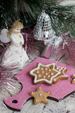 Печенья gingerbread рождества Стоковое Изображение