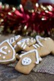 Печенья gingerbread рождества Стоковые Изображения RF