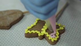 Печенья gingerbread рождества домодельные сток-видео
