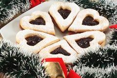 Печенья Linzer с вареньем Стоковые Изображения RF