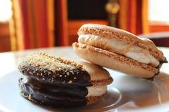 Печенья Macaroon S'more Стоковое фото RF