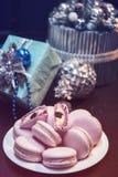 Печенья macaroons Xmas Стоковое фото RF