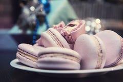 Печенья macaroons Xmas Стоковые Фото