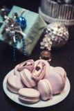 Печенья macaroons Xmas Стоковые Изображения RF