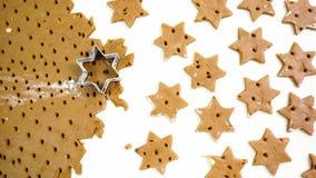 печенья makingchristmas Стоковая Фотография RF