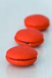 Печенья marron клубники Стоковые Изображения RF
