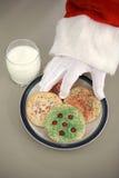 печенья santa рождества Стоковые Изображения RF