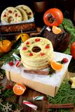 Печенья Shortbread сформированные как кольца Стоковое Изображение RF