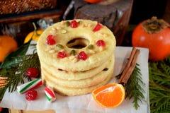 Печенья Shortbread сформированные как кольца Стоковая Фотография RF