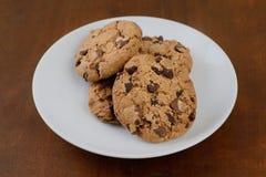 Печенья Shortbread с обломоками шоколада Стоковые Изображения