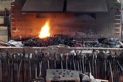 Печка и инструменты Blacksmith стоковое фото rf