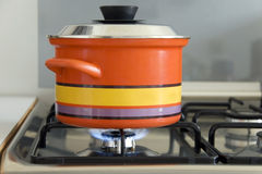 печка кастрюльки Стоковое Фото