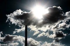 Печная труба и дым Стоковое Изображение RF