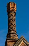 печная труба кирпича богато украшенный Стоковые Фото