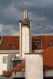 Печная труба крыши Стоковое Изображение