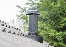 Печная труба на здании Стоковое фото RF