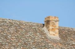 Печная труба на крыше Стоковые Изображения
