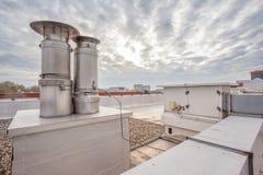 Печная труба на крыше Стоковое Фото