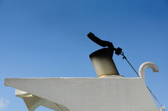 Печная труба на шлюпке Стоковое фото RF