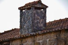 Печная труба дома сланца Стоковые Изображения