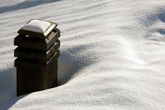 печная труба снежная Стоковые Изображения