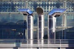 3 печной трубы вентиляции в нержавеющей стали Стоковая Фотография